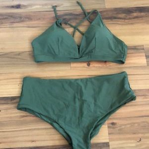 Forest green bathing suit